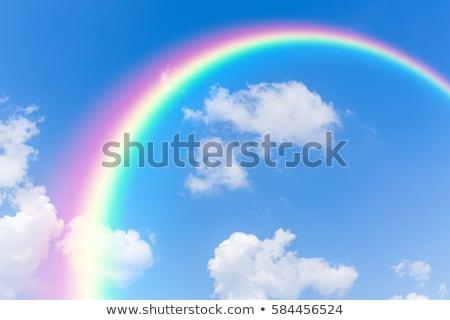 couleur · Rainbow · nuages · ciel · bleu · gradient - photo stock © colematt