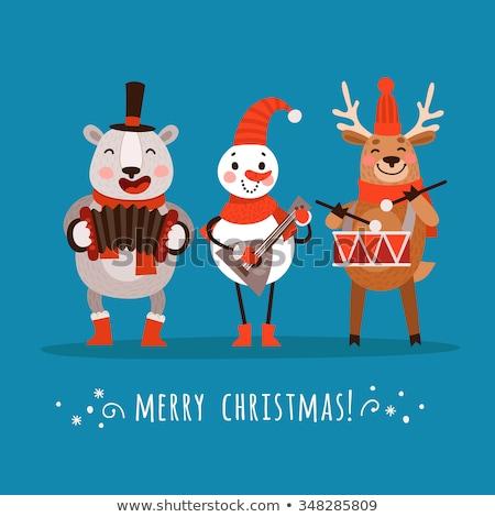 Рождества музыкальные инструменты набор Дед Мороз играет Сток-фото © robuart