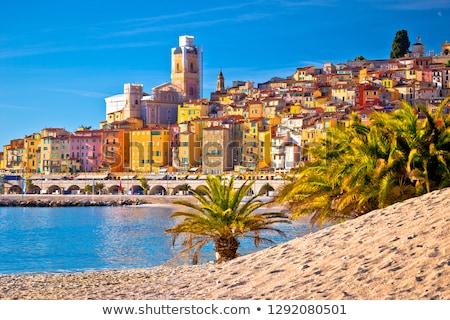 medieval · ciudad · francés · panorámica · vista · playa - foto stock © xbrchx