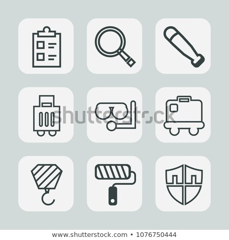 Playing baseball magnifying glass vector illustration. stock photo © kyryloff