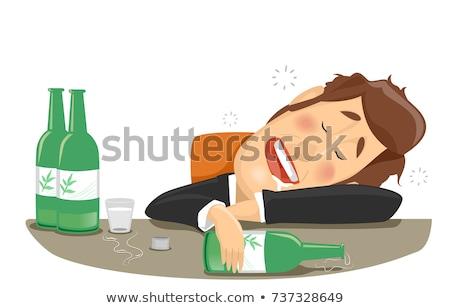 Homem bêbado álcool ilustração empresário acabado Foto stock © lenm