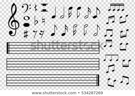 セット 音楽 実例 ギター 抽象的な ストックフォト © colematt