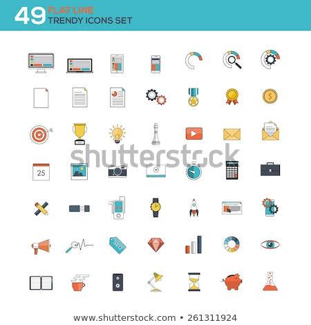 Comercialización compras colorido material diseno Foto stock © Decorwithme