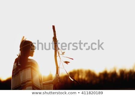 Native american on nature Stock photo © bluering