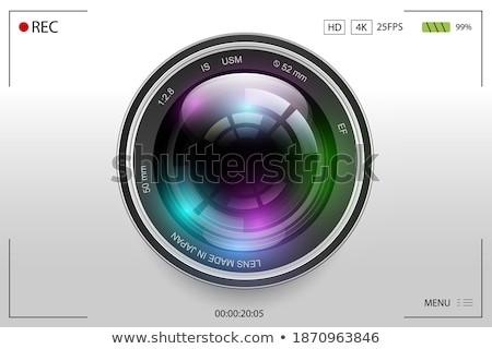 realistic high quality photo video lens vector stock photo © pikepicture