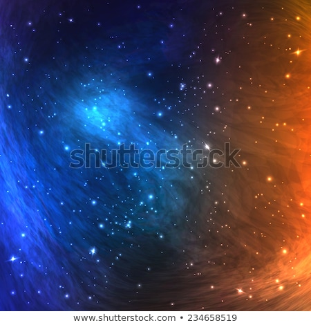 Cosmic Astral With Night Sky Stars Banner Vector Stock photo © pikepicture