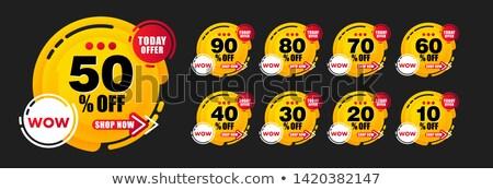 Najlepszy oferta lata zestaw plakat plakaty Zdjęcia stock © robuart