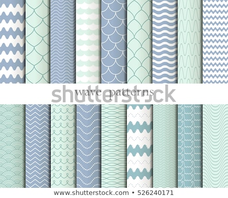 Vector seamless wavy line pattern big set Stock photo © blumer1979