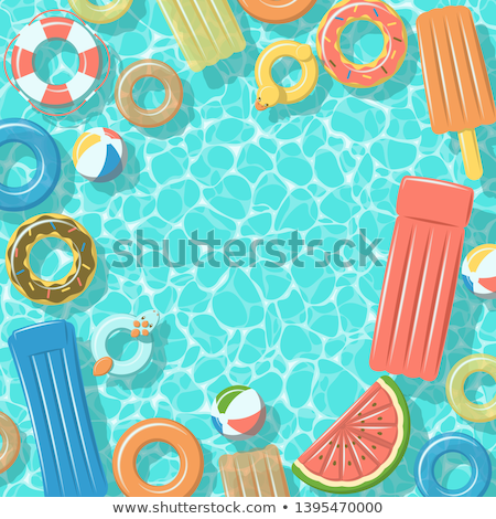 Pool raft floating on transparent water Stock photo © Sonya_illustrations