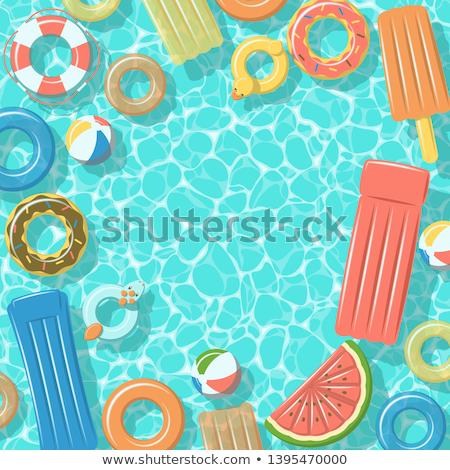プール いかだ 透明な 水 先頭 ストックフォト © Sonya_illustrations