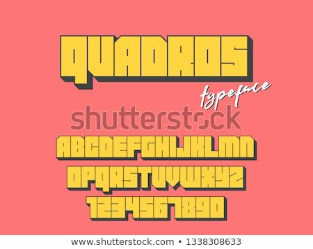 Black outline font Letter Z 3D Stock photo © djmilic