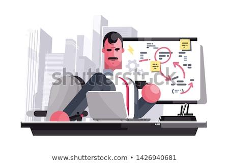 Okos férfi mega agy okos alkalmazott Stock fotó © jossdiim