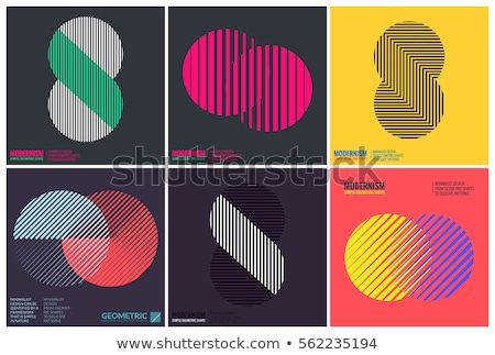 set of clean simple and modern pattern set stock photo © marish