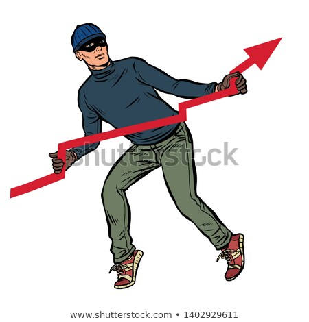 thief steals red graph, falling rates Stock photo © studiostoks
