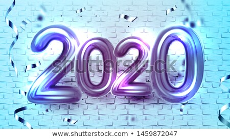 2020 decorated balloons and confetti banner vector stock photo © pikepicture