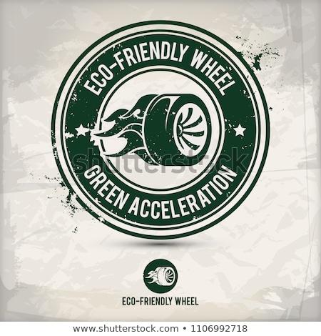 alternative eco friendly tire and wheel stamp stock photo © szsz