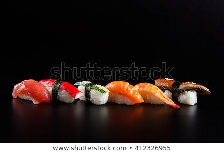 Porción negro arroz integral camarón alimentos Foto stock © Alex9500