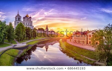 Kremlin Rusland kruis zomer witte toren Stockfoto © borisb17