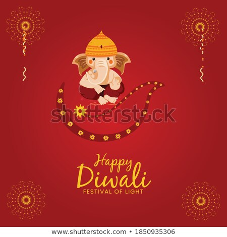 beautiful lord ganesha design colorful banner template stock photo © sarts