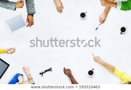 Zespół firmy ręce pracy działalności plan tabletka Zdjęcia stock © Freedomz