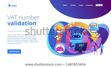 érték adó leszállás oldal mesterséges intelligencia adóügy Stock fotó © RAStudio