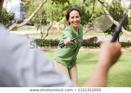男 女性 演奏 バドミントン 屋外 夏 ストックフォト © robuart