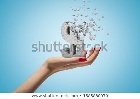 деловые люди сломанной каменные деньги цифровой композитный Сток-фото © wavebreak_media