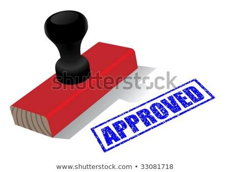 сертифицированный · печать · икона · знак · штампа · безопасной - Сток-фото © pikepicture