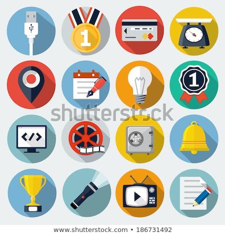 Lampe de poche vecteur icône isolé blanche Photo stock © smoki