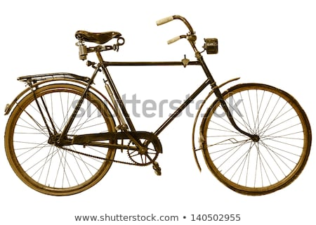 Old bike in retro style on a white background Stock photo © Lopolo