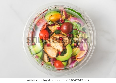healthy vegetable food concept of salad bowl stock photo © cienpies