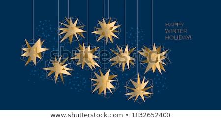 Kortárs karácsony absztrakt formák fák ajándékok Stock fotó © solarseven
