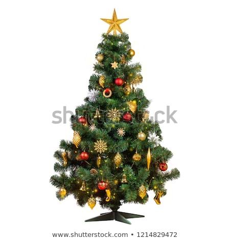 Kerstboom stro eco hand winter Stockfoto © furmanphoto
