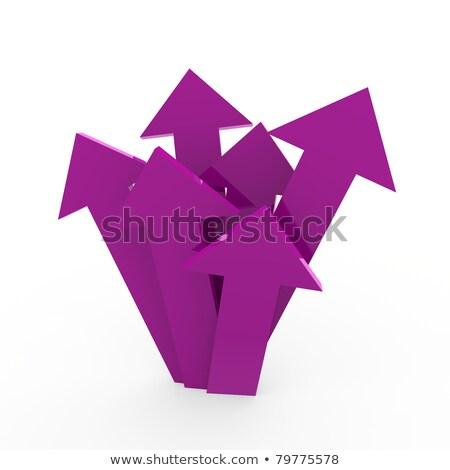 3D arrow alto viola grafico business Foto d'archivio © dariusl