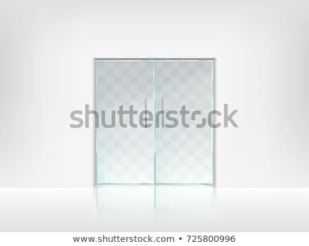 Szkła drzwi chrom uchwyt wektora elegancki Zdjęcia stock © pikepicture