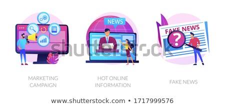 Yellow journalism vector concept metaphors Stock photo © RAStudio