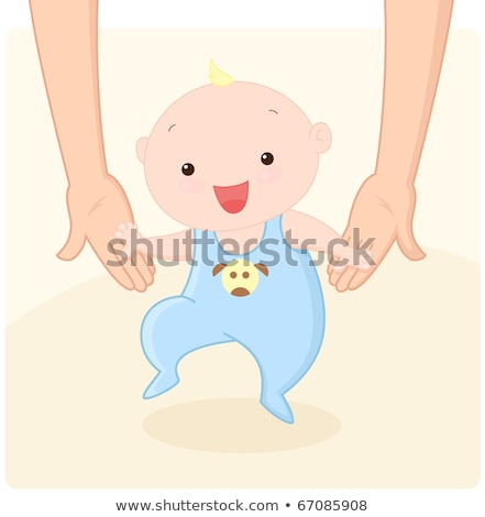 Kind eerste stappen helpen moeder frisse lucht Stockfoto © ElenaBatkova