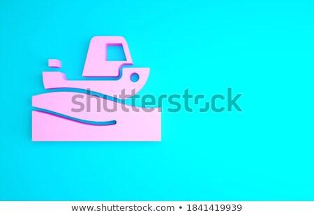 Rufa fali różowy łodzi ruchu statku Zdjęcia stock © manfredxy