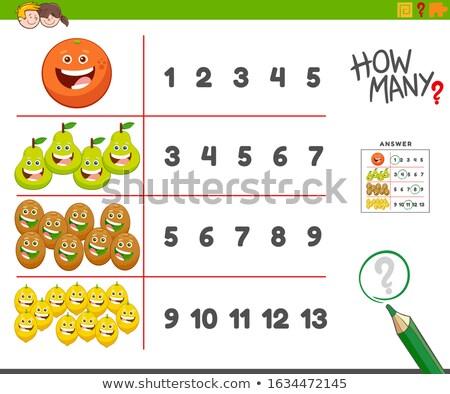 Taak gelukkig vruchten cartoon illustratie Stockfoto © izakowski