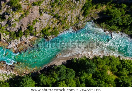 Picturesque top view of the river valley. Stock photo © Leonidtit