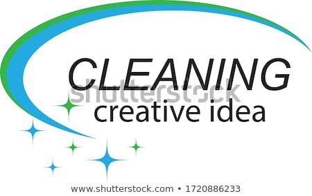Lavaggio cleaner creativo società logo set Foto d'archivio © pikepicture