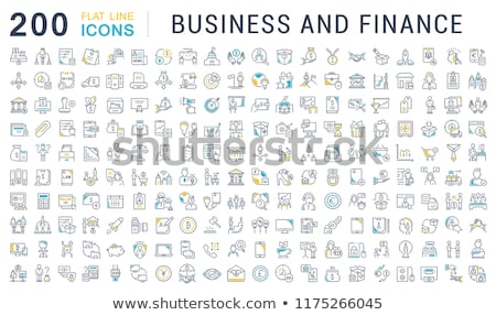 bank office worker icon vector outline illustration Stock photo © pikepicture
