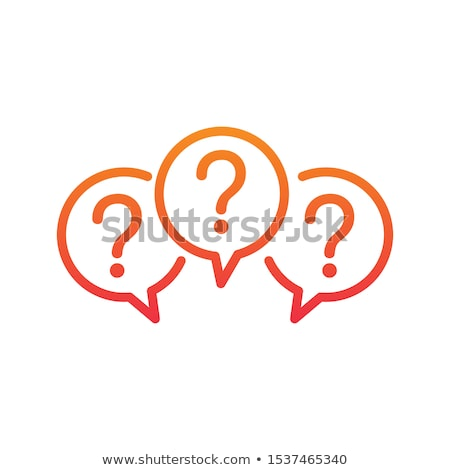 Three linear chat speech message bubbles with question marks. FAQ or Forum icon. Communication conce Stock photo © kyryloff