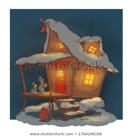 Magie sprookje cartoon klein huis twee Stockfoto © vasilixa