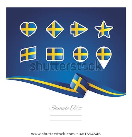 フラグ スウェーデン 中心 碑文 愛 ストックフォト © butenkow