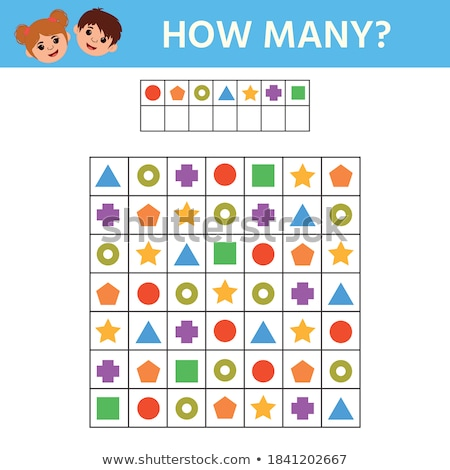 How many is educational game. Maths task for the development of logical thinking Stock photo © natali_brill