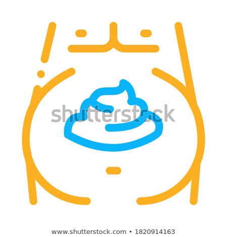 mayonnaise obesity icon vector outline illustration Stock photo © pikepicture