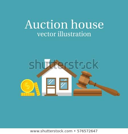 Leilões casa abstrato residencial comercial propriedade Foto stock © RAStudio