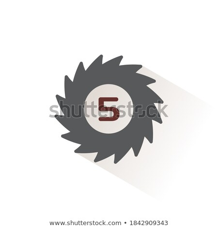 Hurricane. Category five. Fifth rate. Icon. Weather and map glyph vector illustration Stock photo © Imaagio