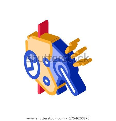 Metallico protezione meccanismo isometrica icona vettore Foto d'archivio © pikepicture